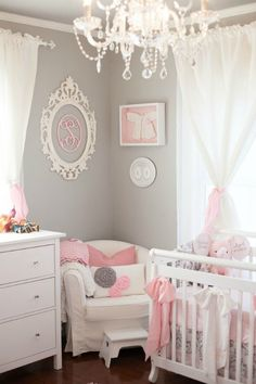 Shop baby nursery decor and be inspired by design ideas here at Project Nursery. Our baby gifts and gear include clothes, wallpaper, furniture, tech, and more. Baby Bedroom, Baby Room Decor, Nursery Room, Girls Bedroom, Room Baby, Bedroom Green, Girl Rooms, Baby Rooms, Bedroom Wall