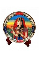 Indian Painting Marble Plate. Click Abouts: http://handicana.com/marble-handicrafts/decorative-products/indian-painting-marble-plate