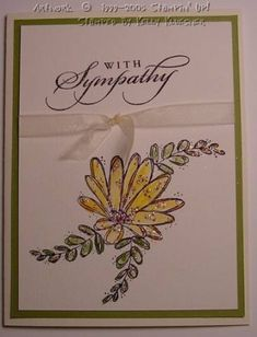 With Sympathy Flower Bloom by latenightscrappin - Cards and Paper Crafts at Splitcoaststampers