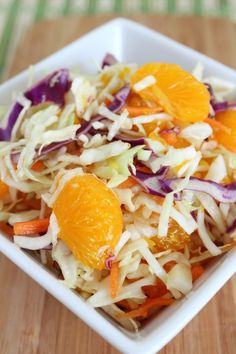 *****Summer Citrus Asian Slaw ~ Very easy. It's good paired with fish, such as Hoisin Glazed Salmon.