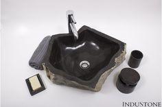 EROSI BLACK B kamienna umywalka nablatowa INDUSTONE - InduStone