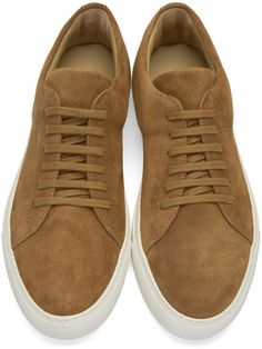 Common Projects - Brown Suede New Court Low Sneakers