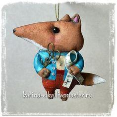 Лисички-портные - авторская ручная работа,авторские украшения,авторские елочные игрушки