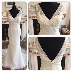 Blue By Enzoani Honolulu Vintage Lace Fishtail Wedding Dress Holmfirth West Yorkshire