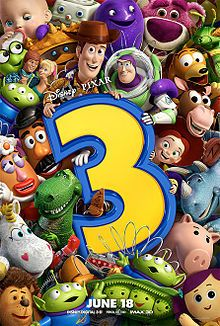 Toy Story 3 - third installment in the series - in which we care more than ever before about a group of animated toys - some heavy stuff in this one, but you'll laugh amidst your tears