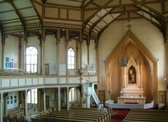 The Altar of the wooden Church of Heinävesi, Finland. Designed by Josef Stenbäck and built in 1890–1891. - Photo: Pertsaboy/Wikipedia