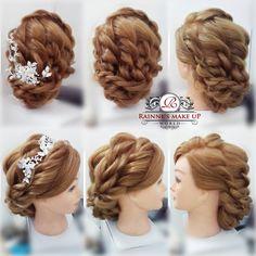 #rainnemakeupworld #hairstyles #vintage #korean #bridalhairdo #naturalhairdo #elegant #2015 #wedding #sweetbraided