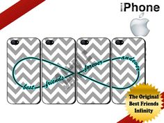 Best Friends Forever and Ever iPhone Cases - iPhone 4 Case or iPhone 5 Case - Infinity - Chevron iPhone Case - Four Case Set on Etsy, $39.99