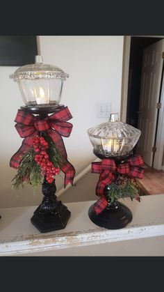 Christmas Lanterns Diy, Diy Christmas Decorations Easy, Christmas Snow Globes, Christmas Centerpieces, Simple Christmas, Christmas Holidays, Dollar Tree Crafts, Holiday Crafts, Holiday Decor