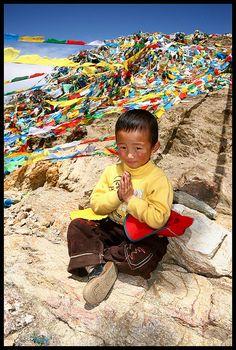 Boy at Ganden Monastery