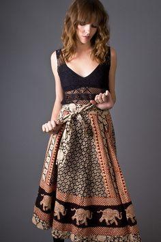 INDIAN FEELING  telltale hearts vintage skirt