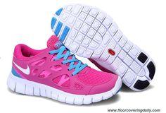 New Womens Nike Free Run 2 Cherry White Treasure Blue 443816-614