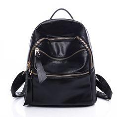 2016 Fashion Backpacks Women PU Leather School Bag Girls Female Candy  Colors Travel Shool Bags Waterproof 716de11c65f7c