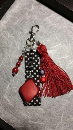 Bijoux de sac / porte clés rouge noir (BS-005)