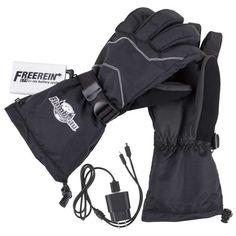 Flambeau 3.7V Rechargeable Heated Gloves Kit – Leather Palm, Black