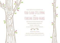 Wedding Invitations - Carved Tree