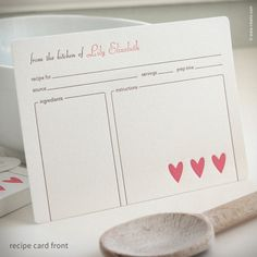 Heart Personalized Recipe Cards {#249}
