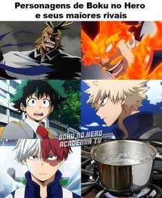 Even though I can't read it I can tell what it says 😂 Otaku Anime, Anime Meme, Manga Anime, My Hero Academia Memes, Hero Academia Characters, Boku No Hero Academia, Anime English, Naruto Funny, Phineas And Ferb