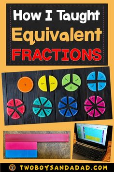 Teaching about equivalent fractions involves using math tools like bar models, fraction strips and number lines. Equivalent Fractions Chart, Comparing Fractions, Teaching Fractions, Teaching Math, Dividing Fractions, Multiplying Fractions, Fractions Worksheets, Multiplication, Math Strategies