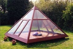 Cool idea... greenhouse and meditation space?