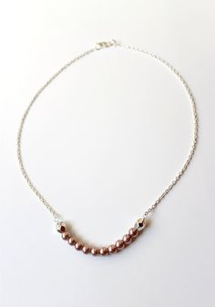 Delicate Light Pink Necklace by almacastro on Etsy, $18.00