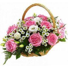 Tenderness #pinkroses #flowerbasket #flowersonline #flowergift #flowersArmenia