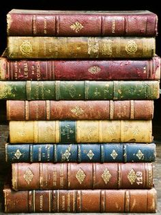 Beautiful antique books, just love them!