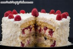 Tort kokosowy z malinami i czereśniami Cheesecake, Cooking Recipes, Cakes, Meet, Cake Makers, Cheesecakes, Chef Recipes, Kuchen, Cake