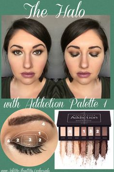 Halo look with Addiction Palette 1! Color by numbers for easy recreation!