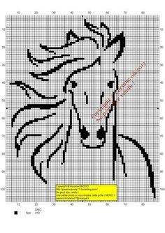 animaux - animals - cheval - point de croix - cross stitch - Blog : http://broderiemimie44.canalblog.com/