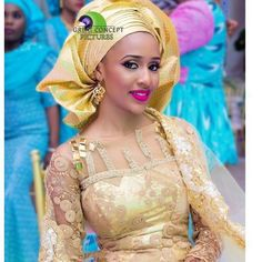 Beautiful Yasmin ! Photo by @greatconceptpictures #HausaBride #NigerianWedding