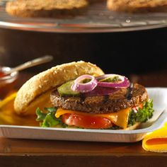 Ready to grill? Our Classic American Burger vegetarian recipe helps when trying to stay on track with your Vegolution.