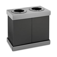 Alpine Industries 28 Gallon Recycling Indoor Corrugated Plastic 2 Bin Trash Can - Trash Cans - Ideas of Trash Cans Indoor Recycling Bins, Recycling Storage, Trash And Recycling Bin, Recycling Containers, Recycling Center, Trash Bins, Plastic Recycling, Home Depot, Types Of Waste