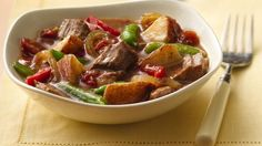 A few minutes prep in the morning and you can have a delicious one-pot dinner in the evening.