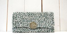 Crochet el embrague Crochet cartera bolso plegable por theGoodShnit