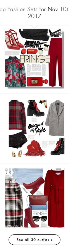 """Top Fashion Sets for Nov 10th, 2017"" by polyvore ❤ liked on Polyvore featuring Adam Selman, Anja, Roland Mouret, Valentino, Charlotte Olympia, Bobbi Brown Cosmetics, MAC Cosmetics, Kate Spade, Yves Saint Laurent and Warehouse"