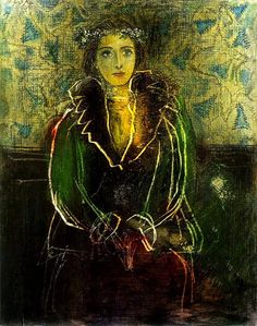 Portrait of Dora Maar with a Crown of Flowers, By Pablo Picasso, Artist: Pablo Picasso. Title: Portrait of Dora Maar with a Crown of Flowers, Medium: Pencil, pastel and scratching drawing. Kunst Picasso, Art Picasso, Picasso Paintings, Georges Braque, Spanish Painters, Spanish Artists, Kunst Online, Malaga, Famous Artists