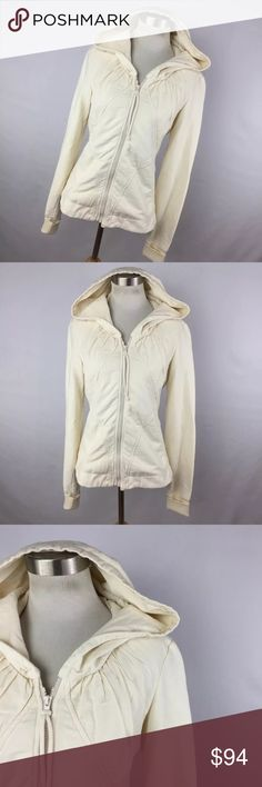 """Prairie Underground S La Fey Hoodie Natural Jacket This is a great jacket with a zip up front, pockets, and a hood. 100% cotton. Chest measurement - 34"""" Length measurement - 24"""" Sleeve Length measurement - 26"""". Excellent condition. No flaws. Smoke free home prarie underground Jackets & Coats"""