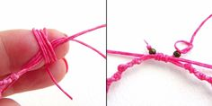 a great way to make an adjustable knot bracelet
