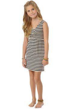 O'Neill 'Larissa' Stripe Dress (Little Girls & Big Girls) available at #Nordstrom