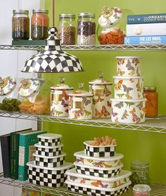New! From the pantry to the closet, we've got a storage solution for you that's much prettier than plastic bins. Carry cupcakes, store scrapbooking supplies, put away pasta or reserve ribbon in an enamelware Deep Storage container at Cornelia Park! #mackenziechilds #courtlycheck #butterflygarden #corneliapark