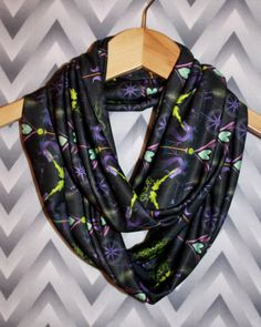 Maleficent Infinity Scarf for Gals by SassySkirtsForGals on Etsy, $29.00