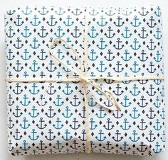 Love this anchor gift wrap