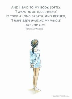 Insightful eating disorder quotes set on beautiful, shareable images. Quotes on anorexia, bulimia, binge eating provide insight into eating disorders. Mon Combat, Affirmations, Anorexia Recovery, Positive Body Image, Recovery Quotes, Self Love Quotes, Love Your Body Quotes, Body Image Quotes, Loving Your Body