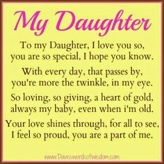 Daveswordsofwisdom.com: A Poem to my Daughter.