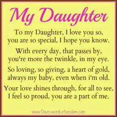 Daveswordsofwisdom.com: A Poem to my Daughter.
