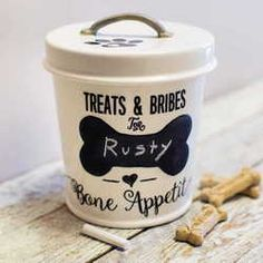 Ceramic Chalk Paint Treat Box  🐶 Happy National Puppy Day! 🐶 Show your pups some love ❤️ - shop our new Pet Collection! www.femailcreatio... #UniqueGifts #GiftsForWomen #Gifts #GiftsForAllOccassions #InspirationalGifts #Love #NewProducts #NationalPuppyDay #NPD2017 #MustLoveDogs #FurBabies