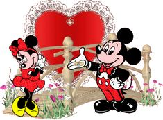 ž Gifs Ideas, Minnie Mouse, Disney Characters, Fictional Characters, Hearts, Pictures, Fantasy Characters