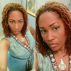 I love the color  #coloredlocs #sisterlocks Sista Locs Rockin It!