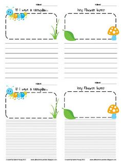 Insect Themed Writing Prompts FREEBIE!